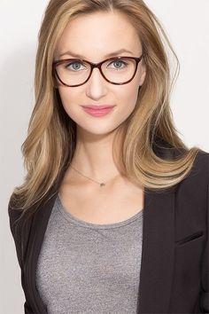 cc15238513 Tortoise Horn Prescription Eyeglasses-Medium Full-Rim Acetate Eyewear -Charlize