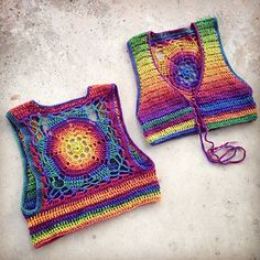 Crochet Pattern - Cropped Sleeveless Sweater Shrug Vest Lace Up Mandala Bohemian // Luna Mandala Vest PATTERN - Knitting Gilet Crochet, Crochet Vest Pattern, Crochet Mandala Pattern, Crochet Blouse, Jacket Pattern, Crochet Lace, Crochet Bikini, Knitting Patterns, Crochet Baby Dresses