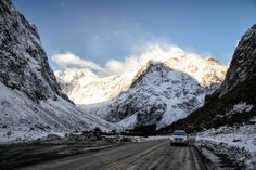 10 Most Scenic Roads in New Zealand - South Island - In A Faraway Land New Zealand North, New Zealand South Island, Driving In New Zealand, New Zealand Itinerary, Roads, Journey, Mountains, Travel, Graduation