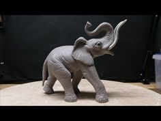 Polymer Clay Texturing (elephant sculpture part 12) - YouTube