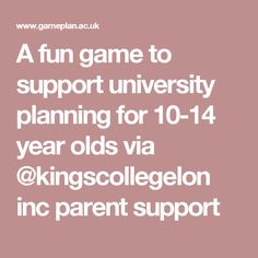 A fun game to support university planning for year olds via inc parent support 14 Year Old, Study Abroad, Fun Games, Studying, Teaching Ideas, Career, Parents, University, Activities