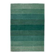 NÖDEBO, Rug, low pile, handmade, green