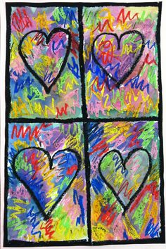 Fourth grade students also took a look at the work of artist Jim Dine . They used a mixed media approach (oil crayons and watercolors) to e...