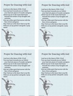 Download a Prayer for Dancing with God and use it in your home or parish. http://go.sadlier.com/wbas-prayer-dancing-with-god    #Prayer #Catholic #Catholics