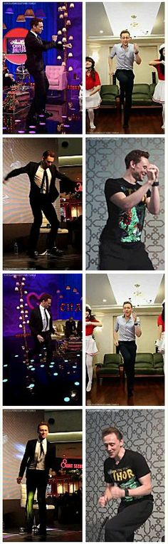 Dancing Tom Hiddleston gif set