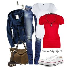 """""""Red, White, & Blue"""" by dlp22 on Polyvore"""