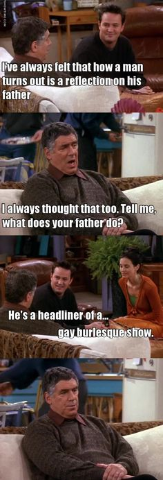 Look at Monica's fathers expression Serie Friends, Friends Cast, Friends Episodes, Friends Tv Show, Friends Scenes, Friends Moments, Friends Forever, Tv Quotes, Movie Quotes