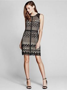 Roy Guipure Lace Dress at MARCIANO.com