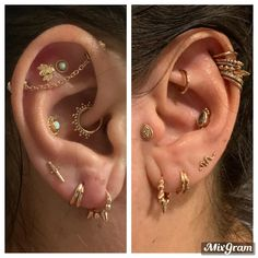 Ear Piercings Chart, Pretty Ear Piercings, Types Of Ear Piercings, Body Piercings, Piercing Tattoo, Flat Piercing, Piercings For Small Ears, Ear Jewelry, Cute Jewelry