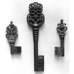 German Wrought Iron 17th Century Keys
