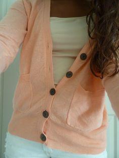 Cozy light pink cardigan
