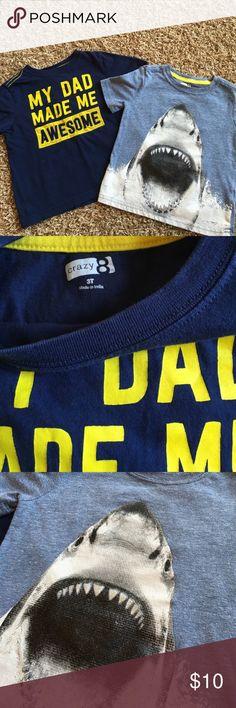 Crazy 8 3t shirts Crazy 8 size 3t shark tee has slight peeling crazy 8 Shirts & Tops Tees - Short Sleeve