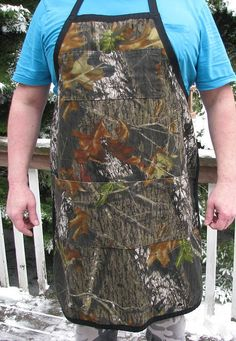 Camouflage Apron BBQ cooking cleaning Apron Mossy by adfabinidaho
