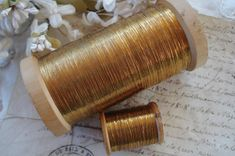 4y Antique French Early Flat Oval Gold by VintageCottageFinds