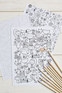 Free Mollie Makes Colouring Sheets