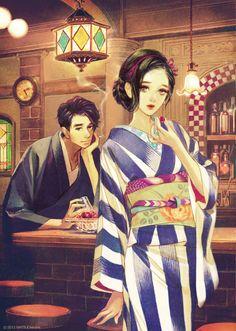 Imagen anime original matsuo hiromi long hair tall image looking at viewer short hair 323781 es Anime Kimono, Geisha, Japanese Princess, Japanese Couple, Art Asiatique, Grafiti, L5r, Japan Art, Copics
