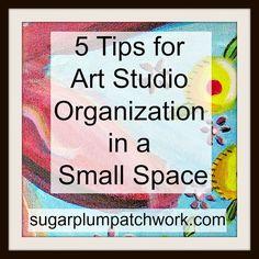 Arts Studios Organizing Ideas | Tips for Art Studio Organization in a Small Space - Laney McDonald