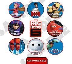 Customizable Disney Big hero 6 Movie theme Party by PeekaOwl