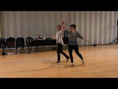 Intermediate Nightclub 2-step with Lilli Ann and Claire - YouTube