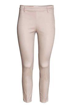 Spodnie cygaretki - Jasnobeżowy - ONA | H&M PL