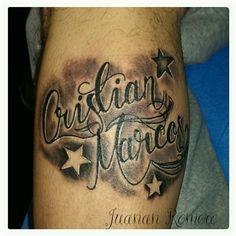 #Lettering#nombres#estrellas#Juanan#Romero#Good#tattoo#art.