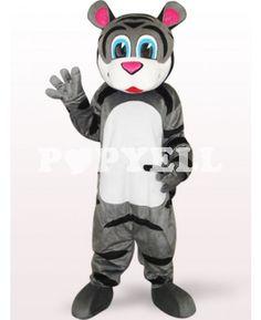 #mascotte #tigre Costume Mascotte Petit Tigre Gris en Peluche