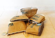 Burlap coffee travel cases - aeropress - espresso - jute sack - plymouth michigan - linaandvi.etsy.com