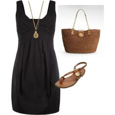 Style My Plain Black Tshirt Dress, created by csreynolds on Polyvore by lesa