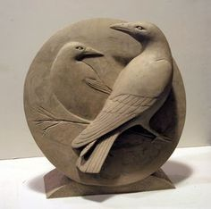 Visit WaterWorks Gallery in Friday Harbor WA to view Sculptures by Northwest Artist, Georgia Gerber. See the latest artwork available! Clay Birds, Ceramic Birds, Ceramic Animals, Ceramic Art, Crow Art, Raven Art, Bird Art, Sculptures Céramiques, Bird Sculpture