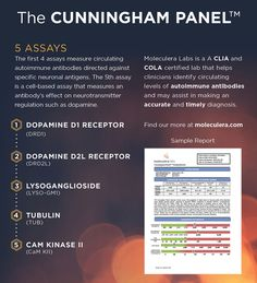 Cunningham Panel helps identify the level of autoimmune antibodies associated with PANDAS and PANS