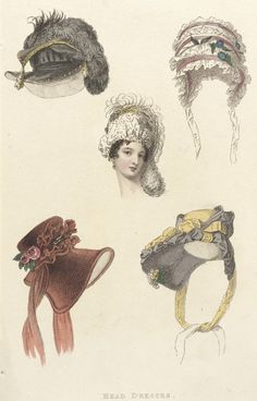 1809 London. Head Dresses Fashion Plate.  http://collections.lacma.org/