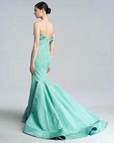Silk Faille Mermaid Gown - Neiman Marcus - Zac Posen. The perfect back.