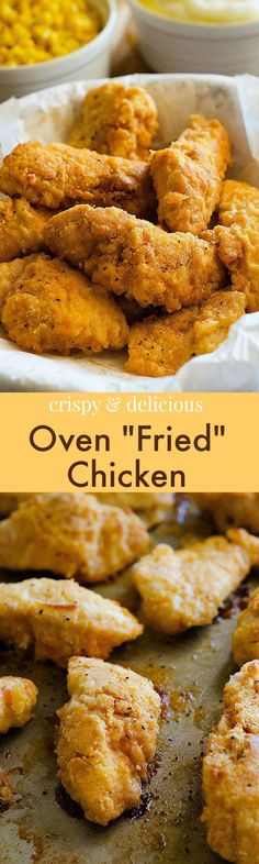 oven fried chicken, crispy baked chicken, main course