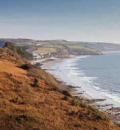 View to Amroth from the Coast Path on the top of the Cliffs between Amroth and Wiseman's Bridge.
