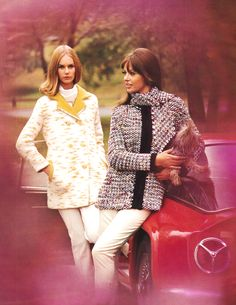 1960s Fashion 60s And 70s Fashion, Retro Fashion, Vintage Fashion, Vintage Wear, My Memory, Bell Sleeve Top, How To Wear, Memories, Women
