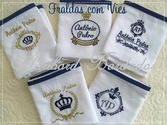 Fraldas bordadas personalizadas
