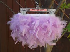 Feather Bloomers Diaper Cover And Headband Set with Lavender Purple Feathers