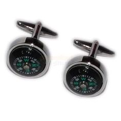 Personalised Compass Cufflinks with Engraved Case  from Personalised Gifts Shop - ONLY £19.95