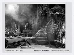 what Haunted House would be worthy if it didn't have a hidden Laboratory/Dungeon Munsters House, Munsters Tv Show, The Munsters, Lily Munster, Yvonne De Carlo, Lost In Space, Practical Magic, Creature Feature, 10 Year Old