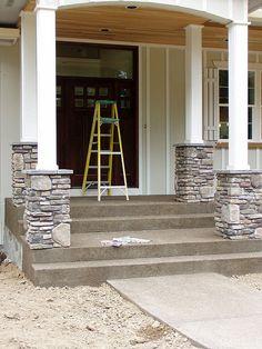 Stone Veneer Columns