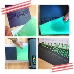 #DIY #foil stamping