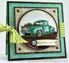 My DREAM truck. by Jenna Barber - Cards and Paper Crafts at Splitcoaststampers - Neat colors and layout. Masculine Birthday Cards, Birthday Cards For Men, Masculine Cards, Boy Cards, Cute Cards, Men's Cards, Just Dream, Fathers Day Cards, Card Sketches