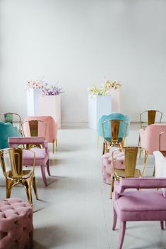 Gallery - If Lisa Frank Had a Pastel Rainbow Wedding This Would Be It