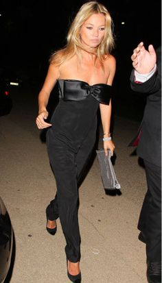 Kate Moss in an Azzaro jumpsuit- what a babe.