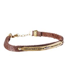 Sterling Silver Axiom Leather Bracelet by Waxing Poetic #zulily #zulilyfinds