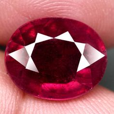 8.79CT.GORGEOUS! OVAL FACET TOP BLOOD RED NATURAL RUBY MADAGASCAR NR! #GEMNATURAL