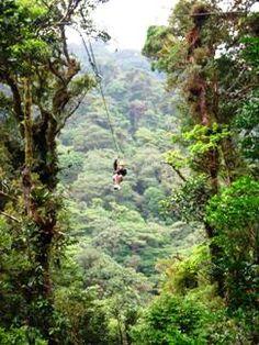 Canopy ziplines in Costa Rica