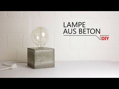 DIY - Lampe aus Beton - YouTube