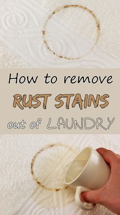 How to remove rust stains out of laundry - 101CleaningTips.net