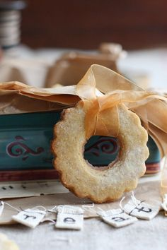 Lemon Almond Cookie Wreaths, how cute it would be to gift these tied with darling gingham or christmas ribbon of your choice!